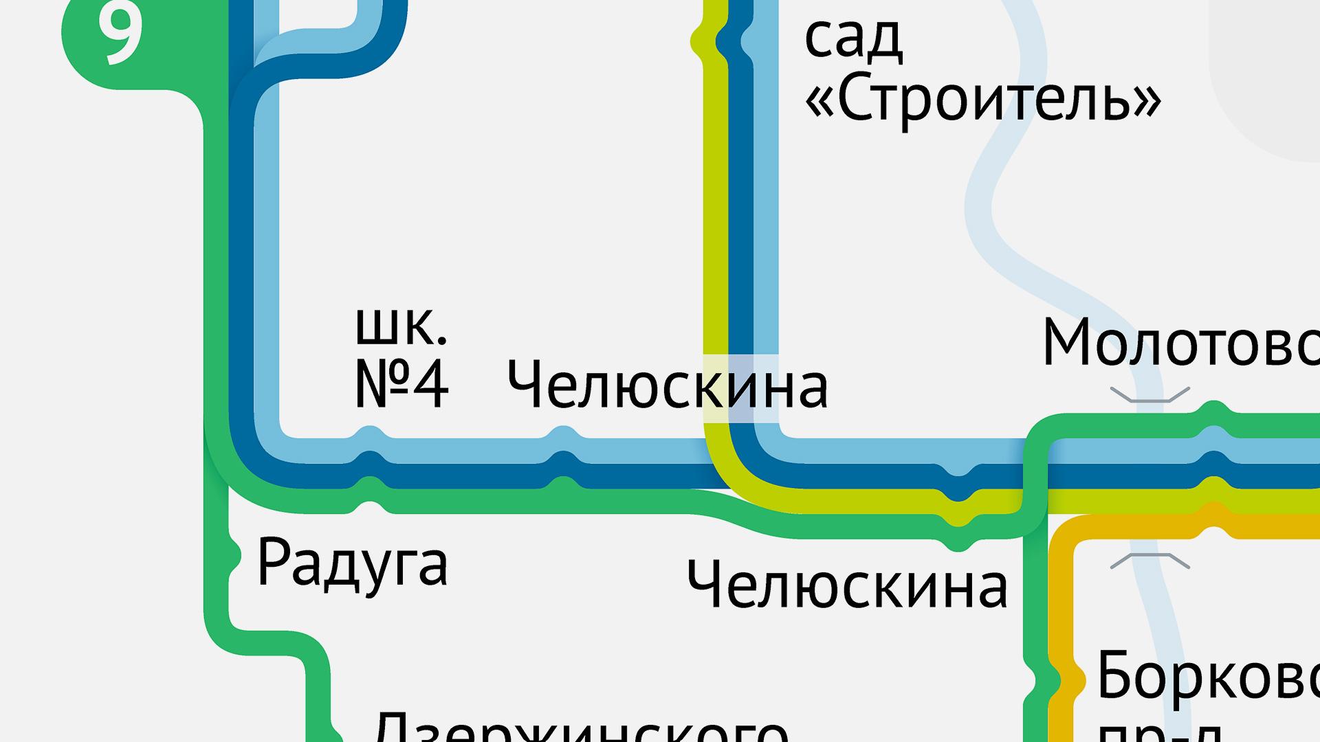 Схема движения транспорта в Выксе